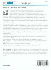 Reseaux Sans Fil Amateurs Installation Et Mise En Oeuvre - 4ème de couverture - Format classique