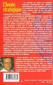 L'annee strategique 2001 - 4ème de couverture - Format classique