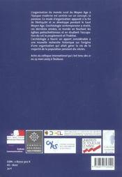 Aux Origines De La Paroisse Rurale En Gaule Meridionale, Iv-Ix Siecles - 4ème de couverture - Format classique