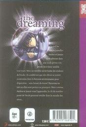 The dreaming t.1 - 4ème de couverture - Format classique