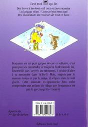 Benjamin S'Est Egare - 4ème de couverture - Format classique