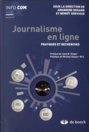 Journalisme en ligne ; pratiques et recherches - Couverture - Format classique
