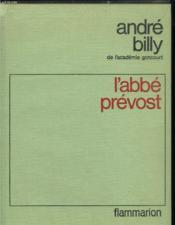 L'Abbe Prevost. - Couverture - Format classique