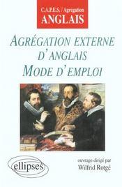 Agregation Externe D'Anglais Mode D'Emploi Capes/Agregation Anglais - Intérieur - Format classique