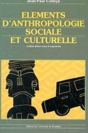Éléments d'anthropologie sociale et culturelle (6e édition) - Couverture - Format classique
