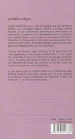 Vocation Negre ; Parole De Negre - 4ème de couverture - Format classique