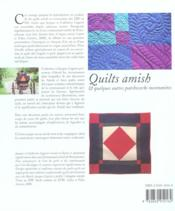Quilts Amish Et Quelques Autres Patchworks Mennonites - 4ème de couverture - Format classique