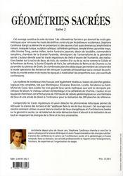 Géométries sacrées t.2 - 4ème de couverture - Format classique