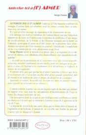 Autorise-Toi A T'Aimer - 4ème de couverture - Format classique