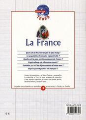 La france - 4ème de couverture - Format classique