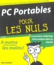 Pc Portables Pour Les Nuls - Couverture - Format classique