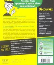 Pc Portables Pour Les Nuls - 4ème de couverture - Format classique