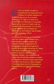 Manuel Pratique De La Danse Classique - 4ème de couverture - Format classique