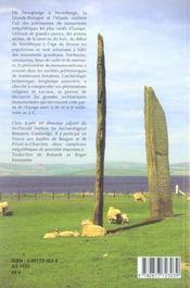 Monuments Megalithiques De Grande-Bretagne Et D'Irlande - 4ème de couverture - Format classique