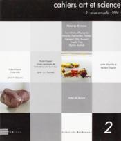 Cahiers Art Et Science 2 - Couverture - Format classique