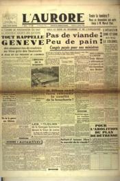 Aurore (L') N°440 du 11/01/1946 - Couverture - Format classique
