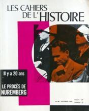 Cahiers De L'Histoire (Les) N°60 du 01/10/1966 - Couverture - Format classique