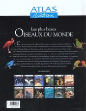 Les Plus Beaux Oiseaux Du Monde - 4ème de couverture - Format classique