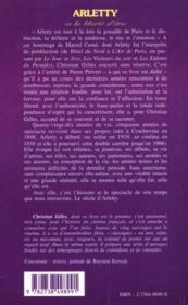 Arletty Ou La Liberte D'Etre - 4ème de couverture - Format classique