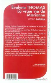 La Vraie Vie De Marianne ; Evelyne Thomas - 4ème de couverture - Format classique