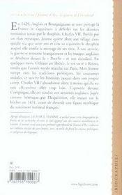 Jeanne D Arc - 4ème de couverture - Format classique