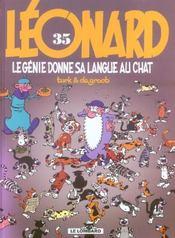 Léonard T.35 ; Le Génie Donne Sa Langue Au Chat - Intérieur - Format classique