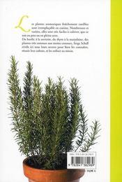 Plantes aromatiques - 4ème de couverture - Format classique