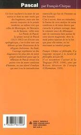 Pascal - 4ème de couverture - Format classique