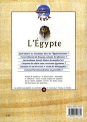 L'égypte - 4ème de couverture - Format classique