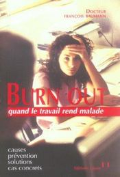 Vente livre :  Burn out  - Francois Baumann