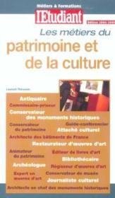Les métiers du patrimoine et de la culture - Couverture - Format classique