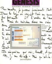 Genesis N.5 ; Manuscrits, Recherche, Invention - Couverture - Format classique