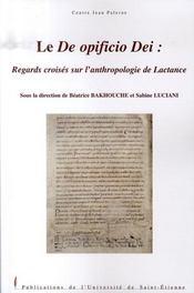 Le de opificio dei ; regards croisés sur l'anthropologie de lactance - Intérieur - Format classique