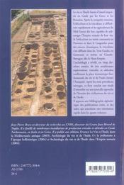 Archeologie Du Vin Et De L'Huile En Gaule Romaine - 4ème de couverture - Format classique