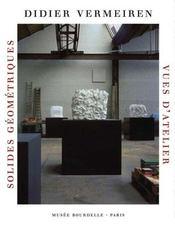 Didier Vermeiren ; solides géométriques, vues d'atelier - Intérieur - Format classique