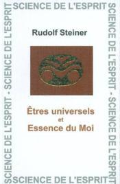 Etres Universels Et L'Essence - Couverture - Format classique