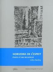 Horizons De L'Esprit - Intérieur - Format classique