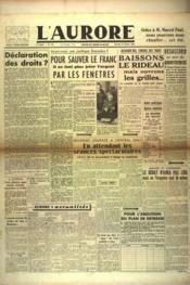 Aurore (L') N°441 du 12/01/1946 - Couverture - Format classique