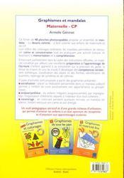 Graphismes et mandalas ; maternelle, CP - 4ème de couverture - Format classique