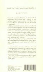 Rue des Pas-Perdus - 4ème de couverture - Format classique