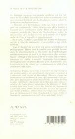 Les Maitre De L'Eau, Histoire De L'Hydraulique Arabe - 4ème de couverture - Format classique