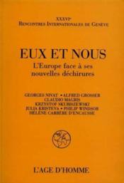 Eux Et Nous: Europe Face A Ses Dechir. - Couverture - Format classique