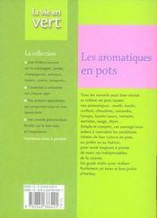 Les aromatiques en pots - 4ème de couverture - Format classique