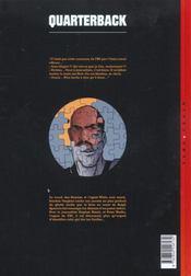 Quarterback t.3 ; Red Greenberg - 4ème de couverture - Format classique
