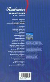 Randonnees En Brianconnais - 4ème de couverture - Format classique