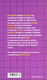 Word Smart L'Apprentissage Ludique Du Vocabulaire Anglais Word Search - 4ème de couverture - Format classique