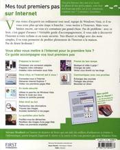 Mes tout premiers pas sur internet ; édition windows vista - 4ème de couverture - Format classique