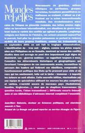 Mondes rebelles ; guerillas milices groupes terroristes ; 3e edition - 4ème de couverture - Format classique