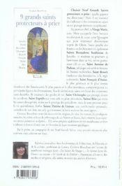 9 grands saints protecteurs à prier - 4ème de couverture - Format classique