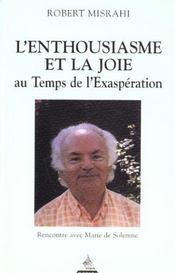 Enthousiasme Et La Joie Au Temps De L'Exasperation - Intérieur - Format classique